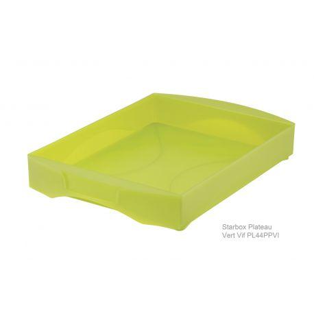 starbox plateau boite de rangement empilable avec 2 poign es int gr es. Black Bedroom Furniture Sets. Home Design Ideas
