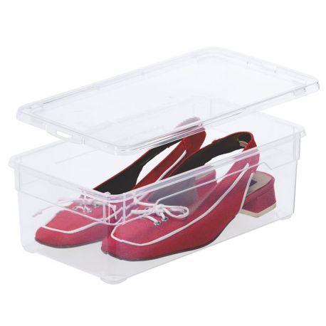 11cm A Boite 5l 33x19cm Femme Chaussures H Transparente Avec Couvercle z17OBzwx