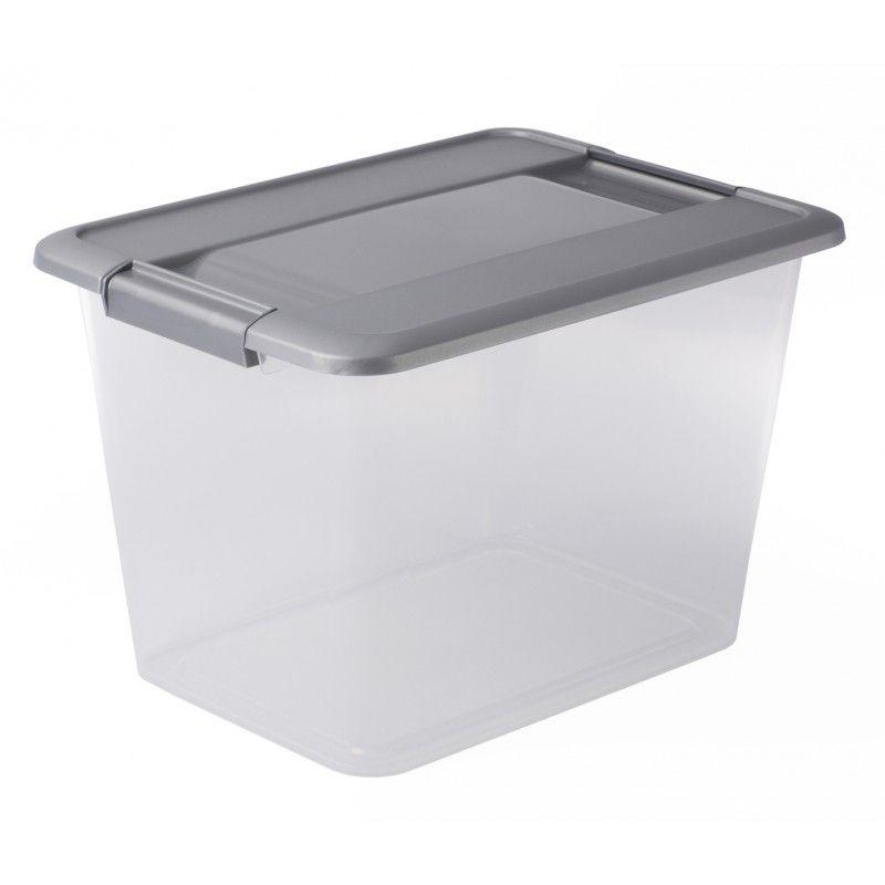 boite rectangulaire a4 18l transparente avec couvercle 28. Black Bedroom Furniture Sets. Home Design Ideas