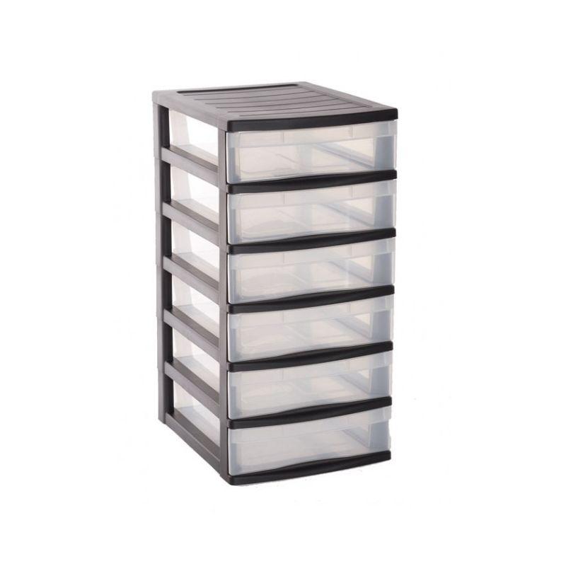 tour de rangement 6 tiroirs 38x30cm h60 5cm. Black Bedroom Furniture Sets. Home Design Ideas