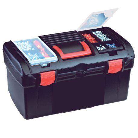 boite a outils 1 compartiment 2 cases avec poignee et. Black Bedroom Furniture Sets. Home Design Ideas