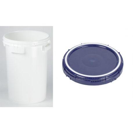 seau plastique blanc 25 l emboitable avec couvercle. Black Bedroom Furniture Sets. Home Design Ideas