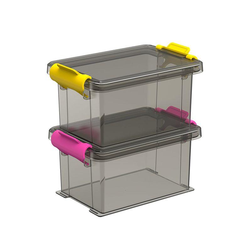 lot de 2 petite boite avec couvercle 12 7x8 5cm h 6 7cm. Black Bedroom Furniture Sets. Home Design Ideas